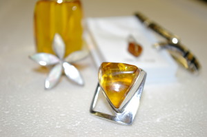 Unique Silver Jewellery, Amber