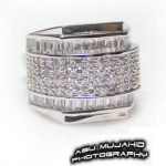 CZ Silver Mans Ring