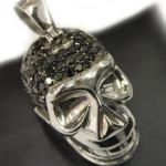Rounded Skull Silver Pendant