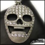 Silver Flat Skull Pendant