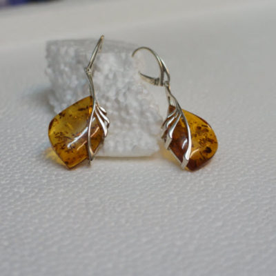 amber silver jewellery