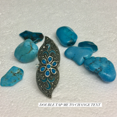 Thai Silver and Turquoise Ring